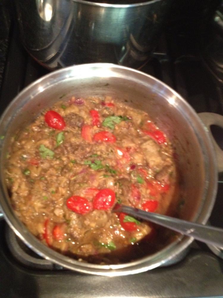 Poltha.. (roasted aubergine dish)